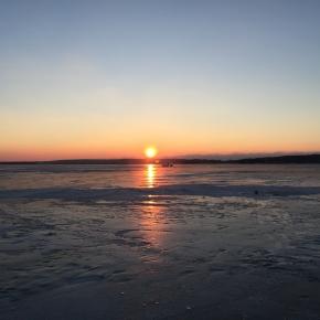 Saulėlydis prie kopų
